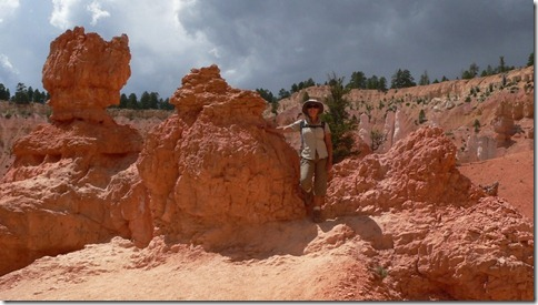 Reen on a Hoodoo Bryce Canyon National Park 018